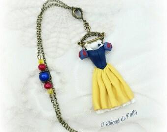 Collana con ciondolo vestito Biancaneve