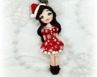Collana con dollina natalizia
