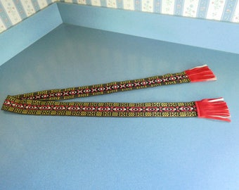 Vintage Woven Cloth Retro Belt from 1970's