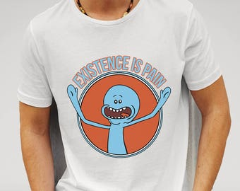 Rick and Morty Mr Meeseeks ' Existence is Pain, boy friend gift, girlfriend gift, Rick and Morty fan gift idea