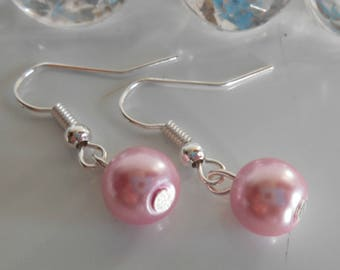Wedding Pearl Earrings old rose