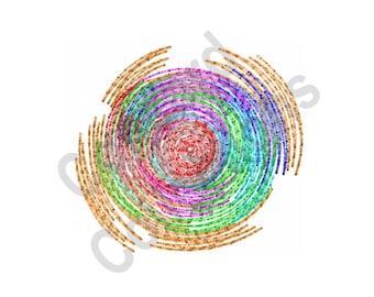 Spiral - Machine Embroidery Design