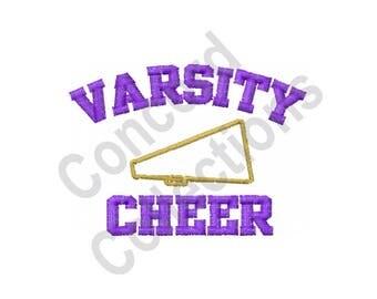 Varsity Cheer - Machine Embroidery Design, Cheer, Cheerleader, Cheerleading