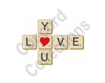 Love You - Machine Embroidery Design, Love