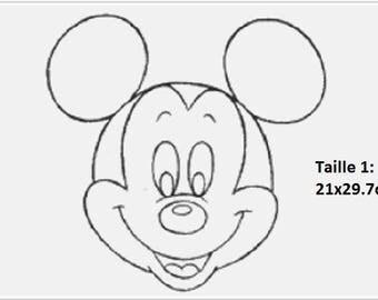 "Rhinestone ""Mickey head"" pattern"