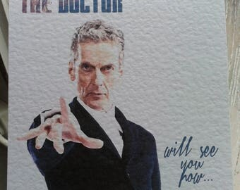Doctor Who The Doctor Card. Just because. Birthday. Congratulations - 1st Class!
