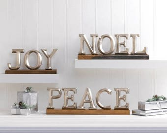 Christmas Block Letter Decor