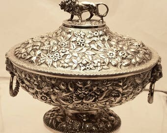 Sterling Silver Repousse Tureen by Baileys & Co.