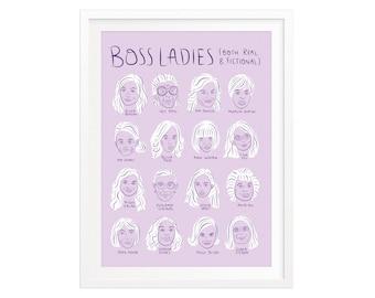 Boss Ladies Chart Silkscreened Art Print