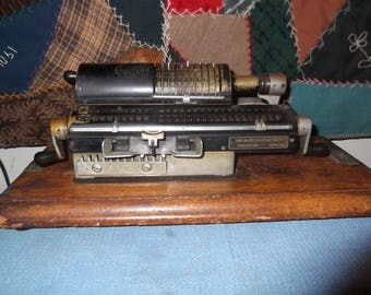 Antique rapid calculator co adding machine PHILADELPHIA PENNA