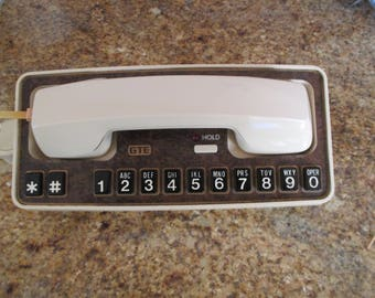 GTE Telephone, GTE Automatic Electric Telephone, GTE Touch Tone Phone, Fcc # AB898Y Phone