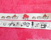 Sewing Notions twill tape - Ribbon Label - Sewing Label - Mushroom ribbon - Hedgehog ribbon - Sewing ribbon - Cotton twill tape