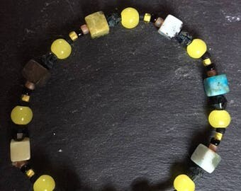 Bracelet yellow and black tone