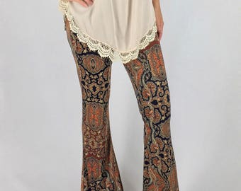 Aztec Bell Bottom Pants