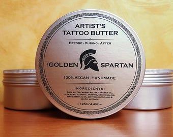 Artist's Tattoo Butter - The Golden Spartan