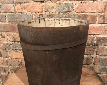 Primitive Staved Sap Bucket Maple Syrup Rustic Decor