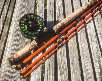 10' 3/4 wt. Fiberglass Switch Fly Rod Translucent Orange