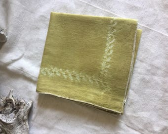 "Natural dyed cotton bandana 22"" x 22"""