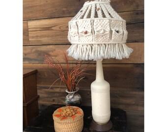 Macrame Lamp Shade Vintage Retro Boho Kitsch
