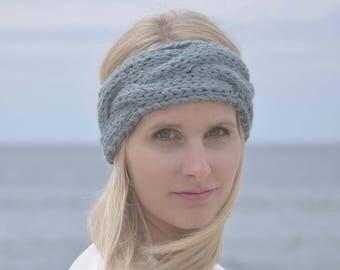 Headband HEDA Alpaca dusty blue