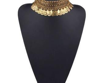 Bohemian choker necklace