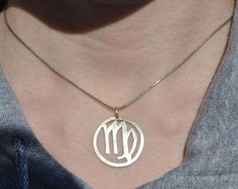 Zodiac Sign Sterling Silver Pendant