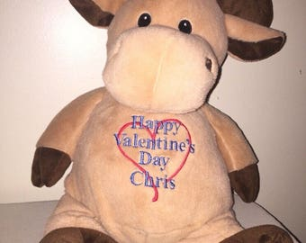 18 inch personalized stuffed moose