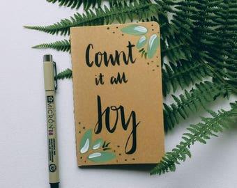 Blank Journal- Handpainted Notebook- Sermon Notes- Prayer Journal