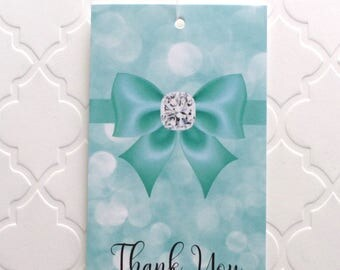 100 CLOTHING TAGS JEWELRY Tags Accessories Tags Boutique Tags Cute Big Bow on Teal Rebe's Creations Retail Tags W 100 Self-Locking Loops