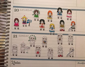 Hand drawn Planner stickers