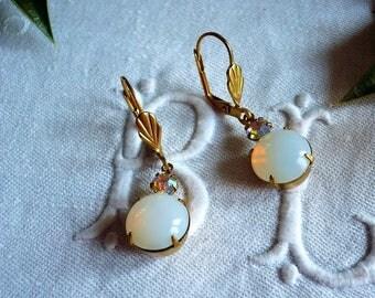 Earrings white way Stud Earrings