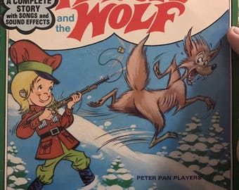Peter Pan Records 45 rpm Peter and the Wolf.  Case is in good condition as is record.