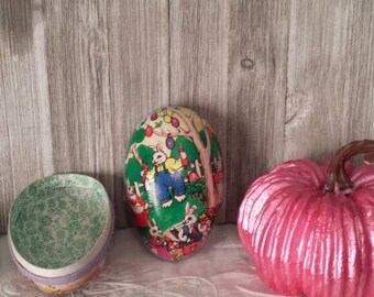 Vintage Papermache Easter Egg Candy Container - Western Germany
