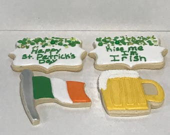 Large St. Patrick's Day Cookies