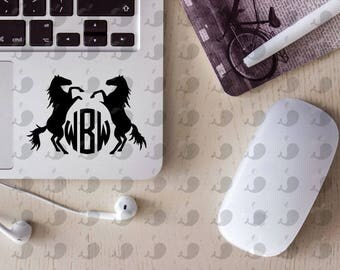 Horse Monogram Decal, Horse Monogram Yeti Decal, Horse Monogram Car Decal