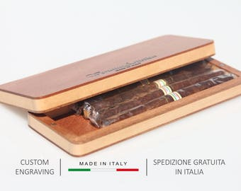 Cigar case, Wood box, Cigars holder, Christmas gift, Cigar box, Easter gift, Cigarette box, Cigarette holder, Personalized gift