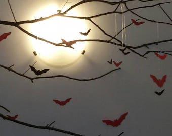 Paper bats halloween decor halloween decoration/mobile/mobile/bat bats
