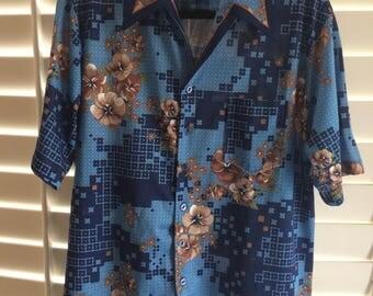 Vintage 1970s // Men's Retro Shirt // Joel of California // Men's Vintage Hawaiian Shirt