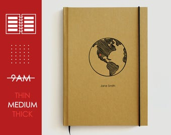 2018 planner | 2018 agenda | weekly planner 2018 | monthly planner | daily planner | custom planner | world map | personalized planner