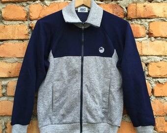ON SALE 20% Vintage Rare ASICS Japan sweater jacket