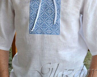 Ukrainian Embroidered Men's Shirt, Vyshyvanka, ukrainian embroidery, embroidered shirt, vyshyvanka men