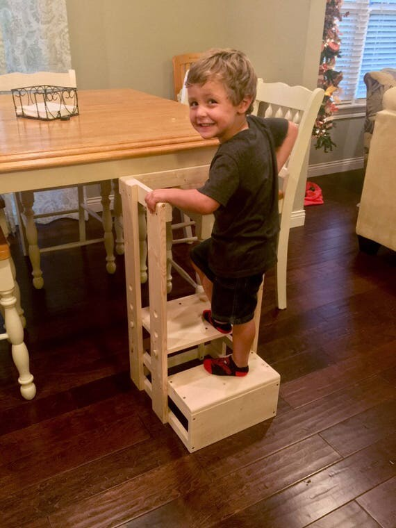 Safe Step Stool Child Safety Kitchen Stool Mommyu0027s Helper Kitchen Helper Learning Center Tower StoolToddler Safety Stool Tot Tower  sc 1 st  Etsy & Safe Step Stool Child Safety Kitchen Stool Mommyu0027s islam-shia.org