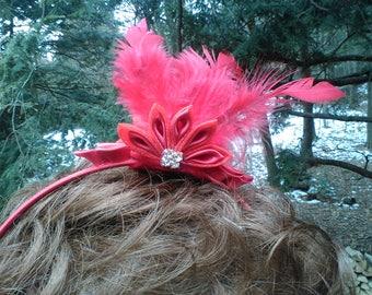"Red ""Fascinator"" Headband"