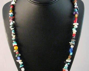 Native American Navajo Made Treasure Necklace