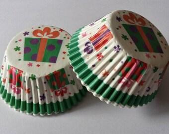 Set of 25 large cupcake gift boxes