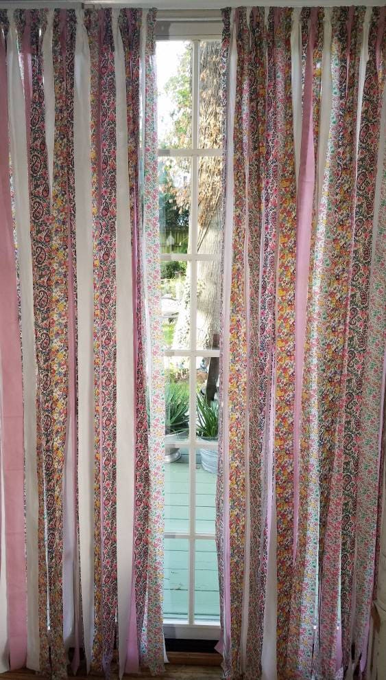 Bohemian Curtain Shabby Chic Curtain Panel Backdrop Teen Dorm Room Decor Boho  Chic Beach Cottage Festival Glamping Hippie Vanlife Part 90