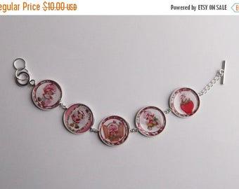 SALE Strawberry Shortcake Handmade Vintage Style Charm Bracelet
