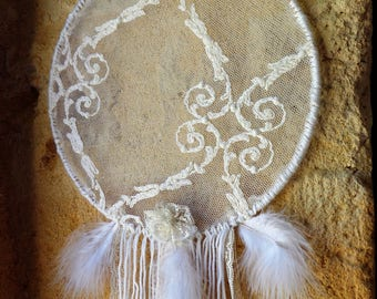 Vintage shabby chic lace dream catcher