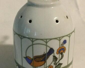 Vintage Porcelain Birdcage Pommander