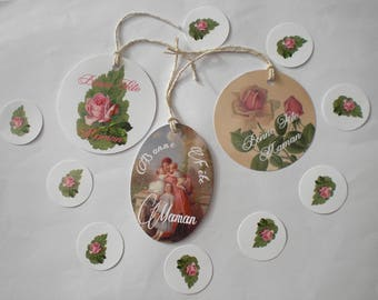 Tags for mother's day shabby